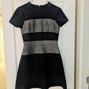 New BCBG navy and grey dress. Size 6.